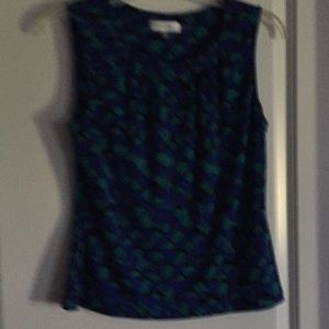 Calvin Klein sleeveless blouse.